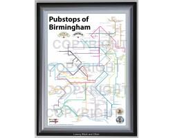Birmingham Luxury Black & Silver Frame