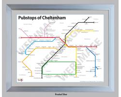 Cheltenham Brushed Silver Frame