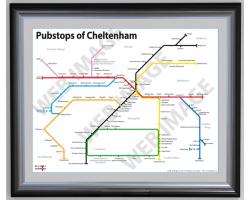 Cheltenham Luxury Black & Silver Frame