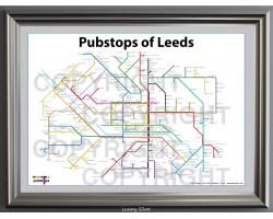 Leeds Luxury Black & Silver Frame