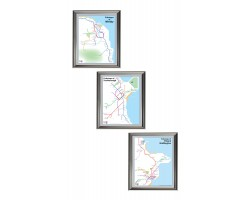 Whitby, Scarborough, Filey and Bridlington set Luxury Silver Frame