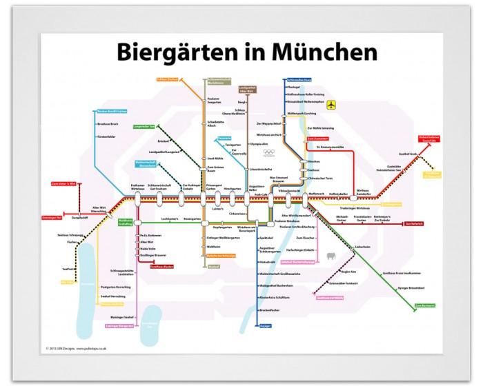Biergarten in Munich White Ash Frame