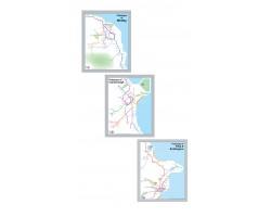 Whitby, Scarborough, Filey and Bridlington set Luxury Black & Silver Frame