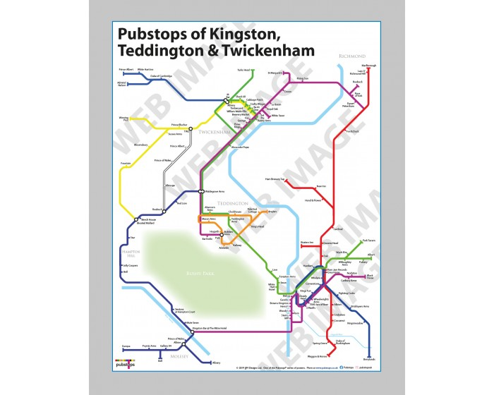 Kingston, Teddington & Twickenham Unframed