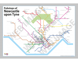 Newcastle upon Tyne Unframed