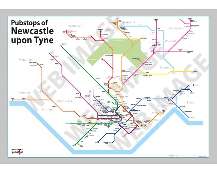 Newcastle upon Tyne Unframed